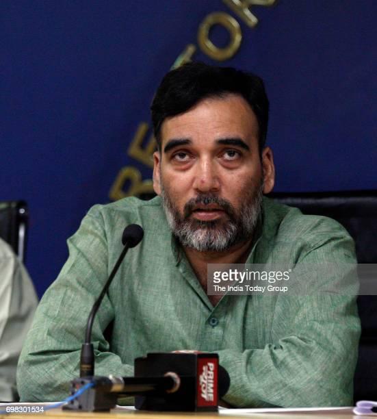AAP's leader Gopal Rai addresses a Press Conference in New Delhi
