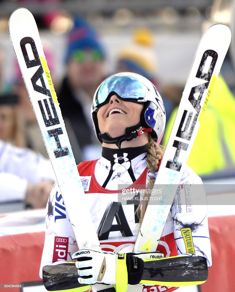In the women s super g competition of the fis alpine skiing world cup