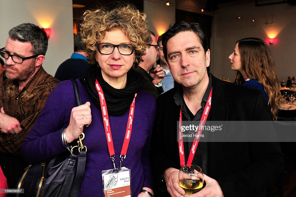BFI's Lizzie Francke and Chris Powell attend the IMDb Sundance dinner party at The Mustang on January 21, 2013 in Park City, Utah.