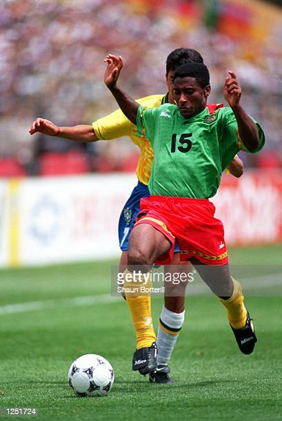 CAMEROON's LOSS TO BRAZIL IN A 1994 WORLD CUP GAME AT STANFORD STADIUM Mandatory Credit Shaun Botterill/ALLSPORT