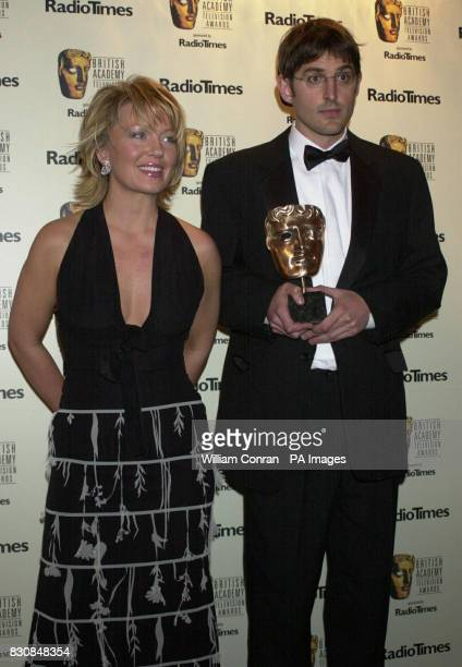 BBC2's Louis Theroux poses with news presenter Kirsty Young who presented him with the Richard Dimbleby Award for Best Presenter an accolade he won...