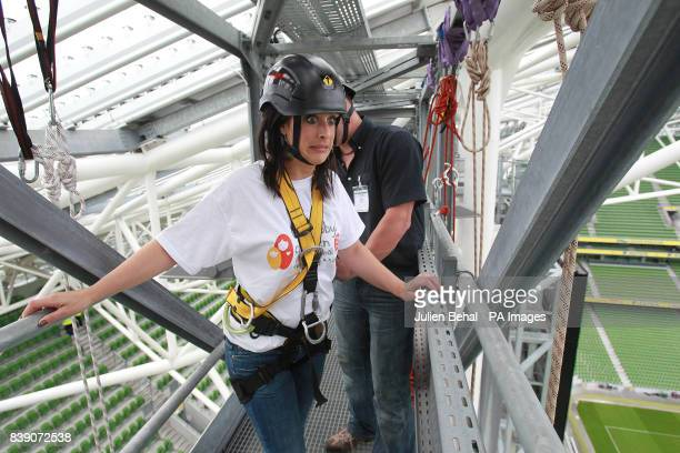 TV's Lucy Kennedy shows some doubts before her abseil in the Aviva Stadium Dublin where Chernobyl Children International launched one of the...