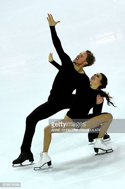 USA's Madison Chock and Evan Bates compete during the Senior Ice Dance free program at the ISU Grand Prix of figure skating Final on December 10 2016...