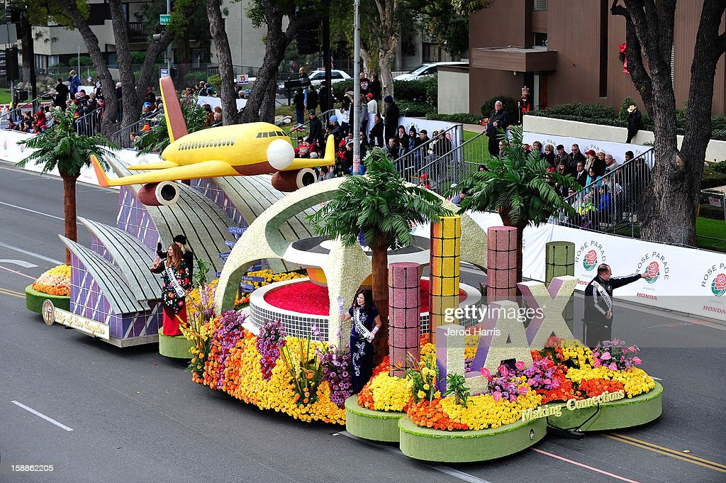LAX's 'Making Connections' float participates in the 124th annual Rose Parade themed 'Oh, the Places You'll Go!' on January 1, 2013 in Pasadena, California.