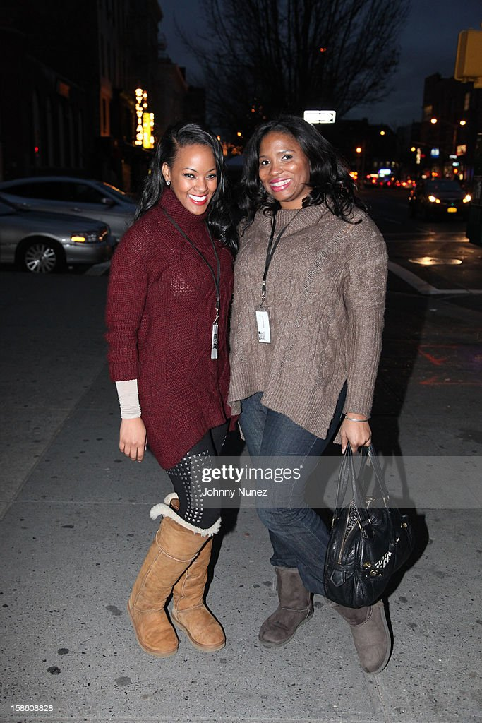 VH1's Malaysia Pargo and Jennifer A. Williams host the Book Bank Foundation's 'Shelter From the Streets' holiday giving tour on December 20, 2012 in New York City.