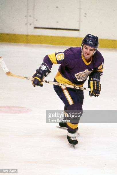 BOSTON MA 1970's Marcel Dionne of the Los Angeles Kings plays against the Boston Bruins