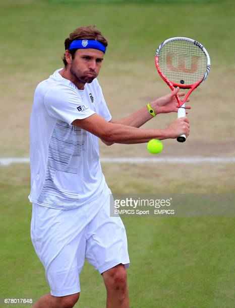 USA's Mardy Fish in action against France's JoWilfried Tsonga