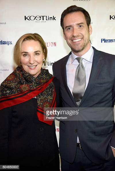 CEO's Mare Mazur and Michael Riley attend the Premiere Of KCET's 'Doc Martin' Season 7 at The British Residence on January 11 2016 in Los Angeles...