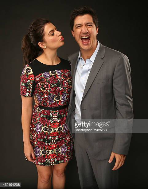 NBC's 'Marry Me' actors Casey Wilson and Ken Marino pose for a portrait during the NBCUniversal Press Tour at the Beverly Hilton on July 13 2014 in...