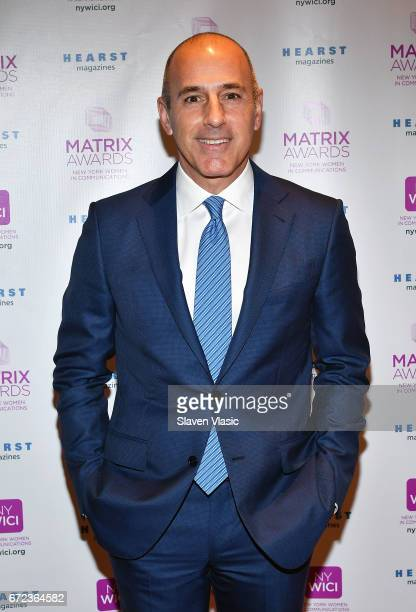 TODAY's Matt Lauer attends 2017 Matrix Awards at Sheraton New York Times Square on April 24 2017 in New York City