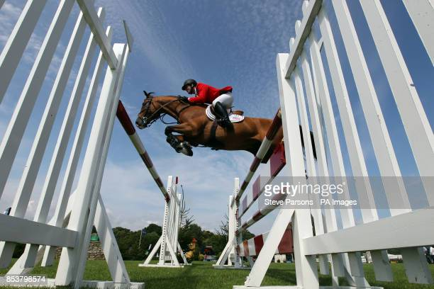 USA's Mclain Ward riding Hh Cannavaro competes in the Bunn Leisure Trophy during the Longines Royal International Horse Show at The All England...