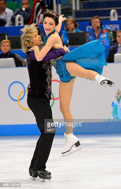 USA's Meryl Davis and Charlie White perform during the team ice dance free figure skating dance short program at the Iceberg Skating Palace at the...