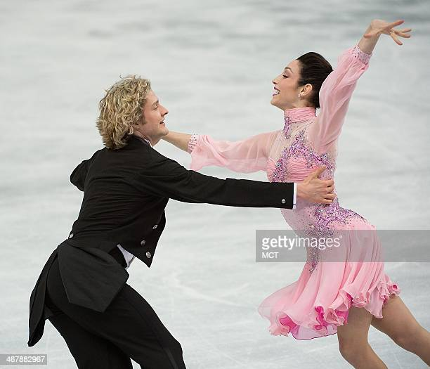 USA's Meryl Davis and Charlie White perform during the team pairs ice dance short dance program at the Iceberg Skating Palace at the Winter Olympics...