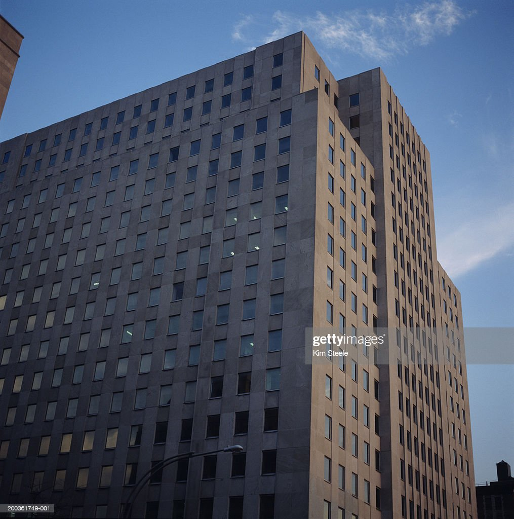 1950's metropolis architecture, low angle view : Stock Photo