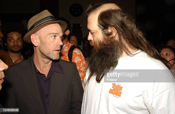 REM's Michael Stipe Rick Rubin during Def Jam Party Lyor Cohen and Russell Simmons Reunite with Def Jam's Original CoFounder Rick Rubin at B Bar in...