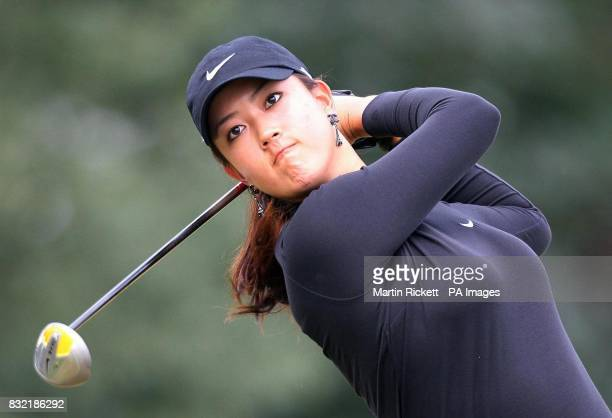 USA's Michelle Wie tee's off on the 3rd during the third round of the Weetabix Women's British Open at Royal Lytham and St Annes Lancashire