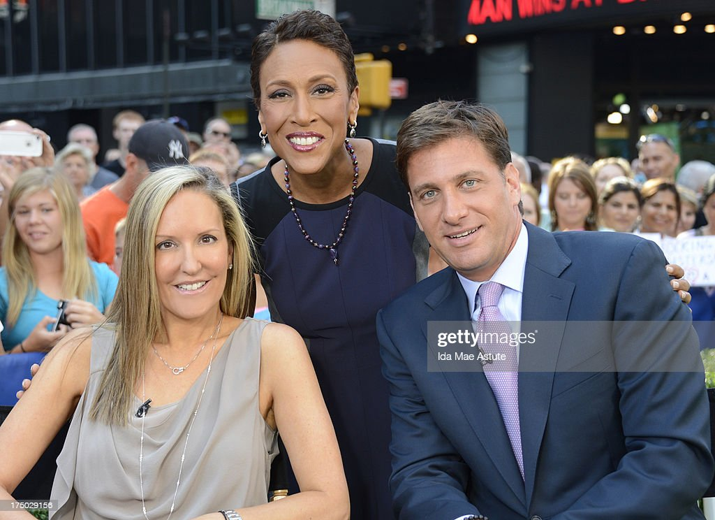 AMERICA - ESPN's Mike Greenberg and wife Stacy talk about their book of which all process go to the Jimmy V Foundation, on GOOD MORNING AMERICA, 7/29/13, airing on the ABC Television Network. (Photo by Ida Mae Astute/ABC via Getty Images) STACY