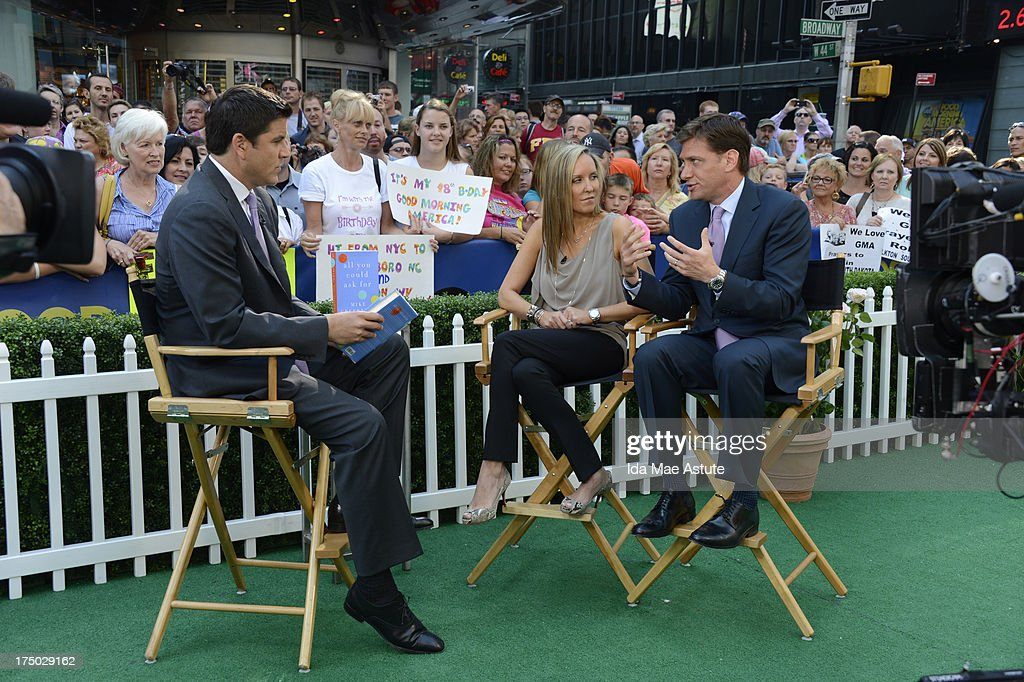 AMERICA - ESPN's Mike Greenberg and wife Stacy talk about their book of which all process go to the Jimmy V Foundation, on GOOD MORNING AMERICA, 7/29/13, airing on the ABC Television Network. (Photo by Ida Mae Astute/ABC via Getty Images) JOSH