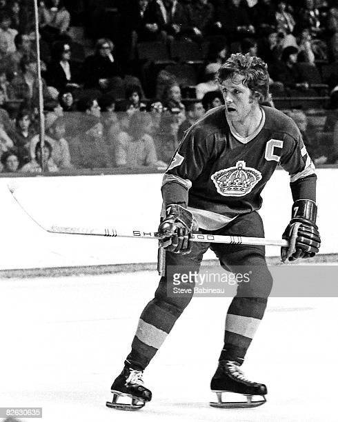 BOSTON MA 1970's Mike Murphy of the Los Angeles Kings skates in game against the Boston Bruins at Boston Garden