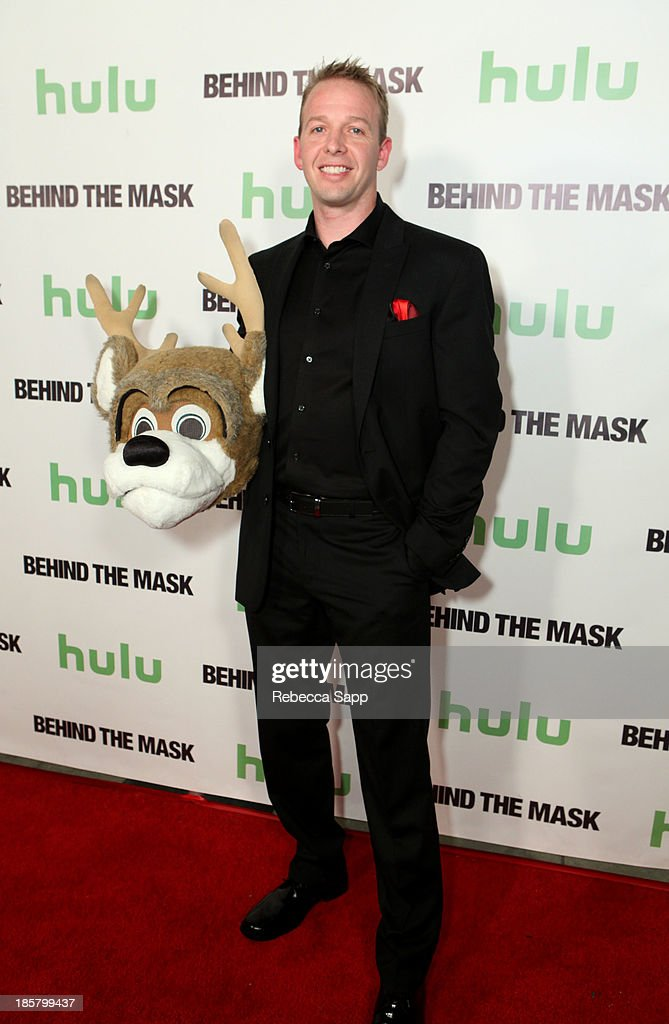 NBA's Milwaukee Bucks' Bango mascot Kevin Vanderkolk at Hulu Presents The LA Premiere Of 'Behind the Mask' at the Vista Theatre on October 24, 2013 in Los Angeles, California.