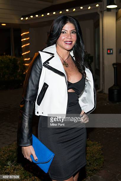 VH1's 'Mob Wives' Season 4 cast member Alicia DiMichele visits Mio Posto Italian Restaurant on December 21 2013 in Hicksville New York