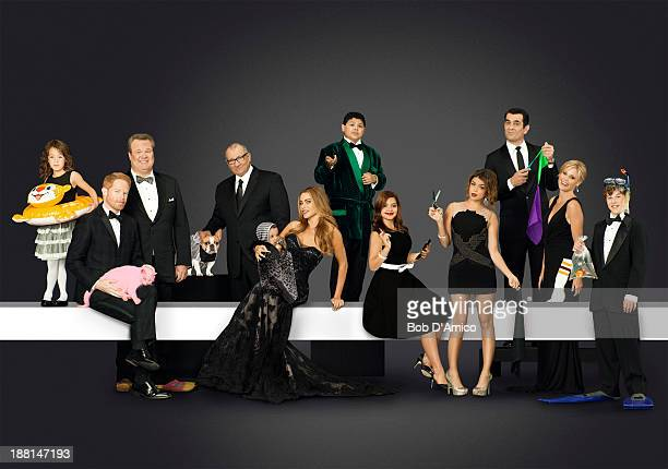FAMILY ABC's 'Modern Family' stars Aubrey AndersonEmmons as Lily Jesse Tyler Ferguson as Mitchell Eric Stonestreet as Cameron Ed O'Neill as Jay Sofía...