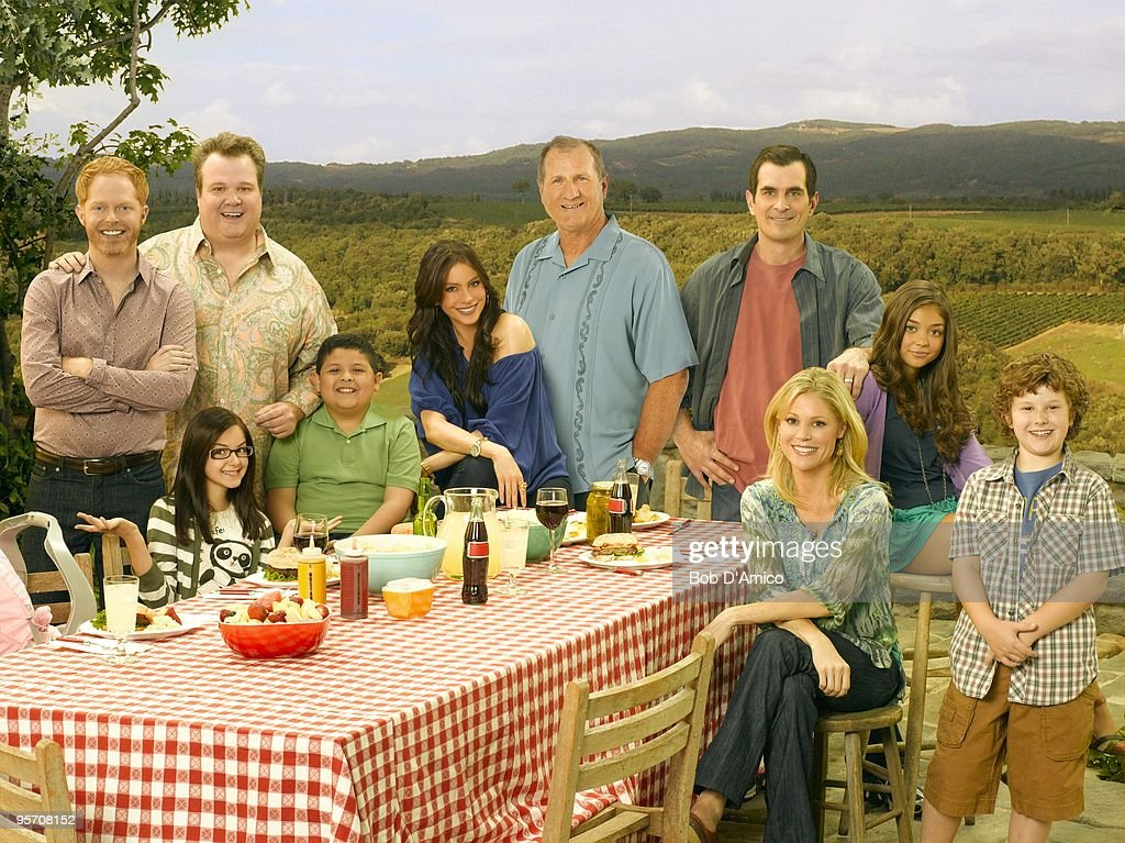 FAMILY ABC's 'Modern Family' stars Jesse Tyler Ferguson as Mitchell Ariel Winter as Alex Eric Stonestreet as Cameron Rico Rodriguez as Manny Sof�a...