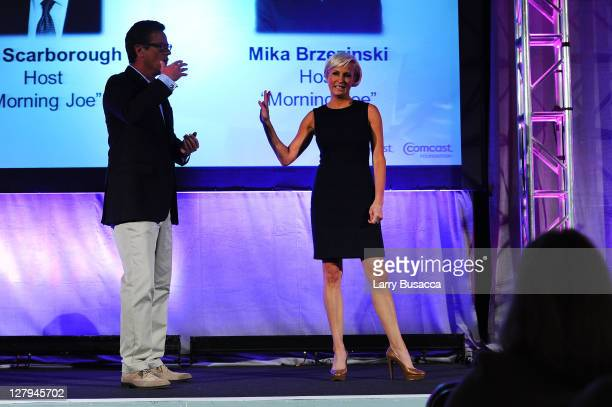 MSNBC's Morning Joe cohosts Joe Scarborough and Mika Brzezinski speak at 2011 WICT Leadership Conference and Touchstones Luncheon at New York Hilton...