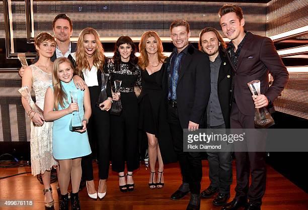 ABC's Nashville cast Clare Bowen Maisy Stella Charles Eston Lennon Stella Aubrey Peeples Connie Britton Chris Carmack Jonathan Jackson and Sam...