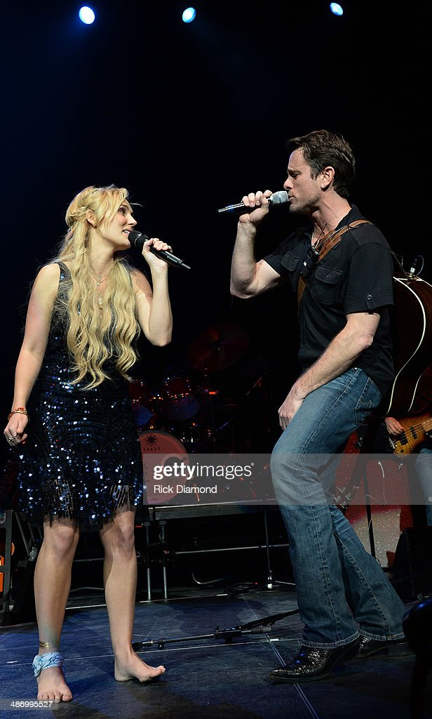 TV's Nashville cast members Clare Bowen and Charles Esten perform at St Jude Country Music Marathon Half Marathon Presented By Nissan Post Race...