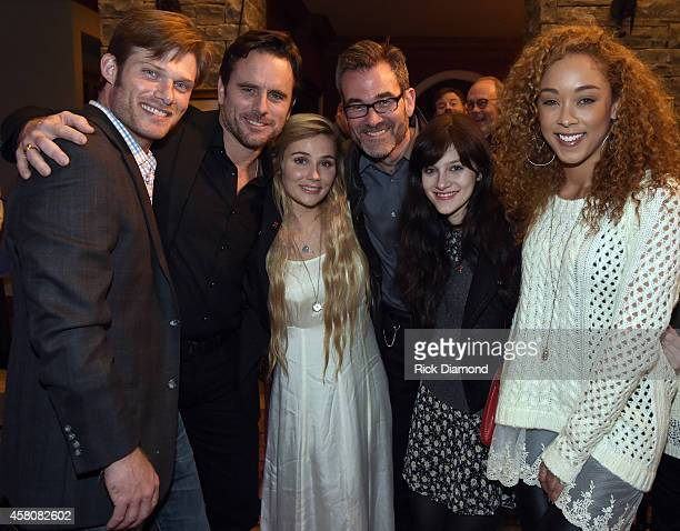 ABC's Nashville cast members L/R Chris Carmack Charles Esten Clare BowenExecutive Producer Steve Buchanan cast members Aubrey Peeples and Chaley Rose...