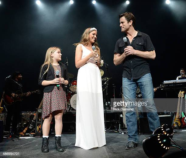 TV's Nashville cast members Maisy Stella Lennon Stella and Charles Esten perform during StJude Country Music Marathon Half Marathon Presented By...