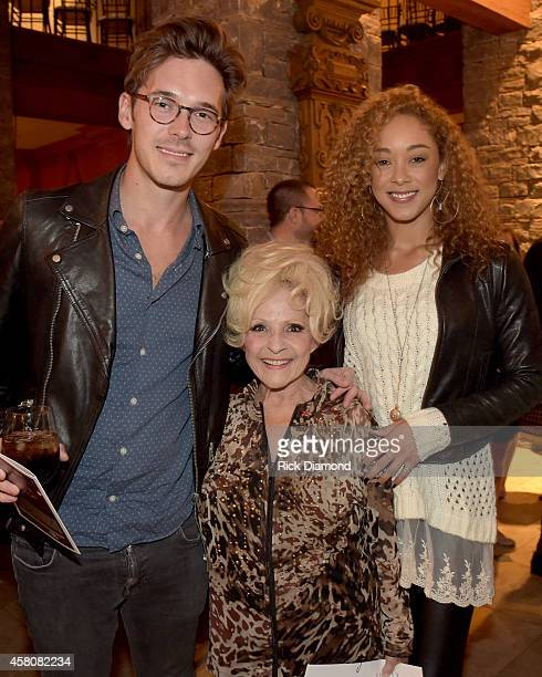 ABC's Nashville cast members Sam Palladio and Chaley Rose join Rock and Roll Hall of Fame member Brenda Lee attend A Tribute to Phil Everly to...