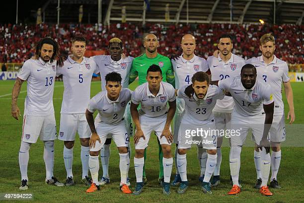USA's national soccer team poses for a team photo during a World Cup Qualifier between Trinidad and Tobago and USA as part of the FIFA World Cup...