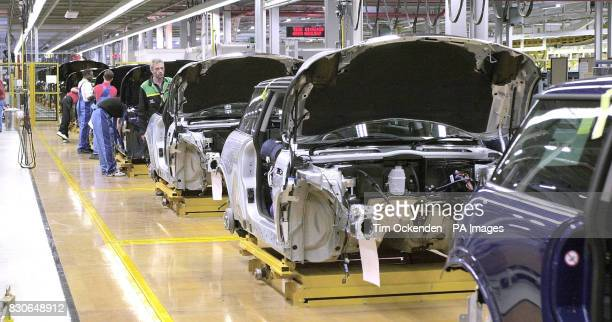 BMW's new Mini car plant at Cowley in Oxford on the day Chancellor Gordon Brown attended its official opening as the company announced booming orders...