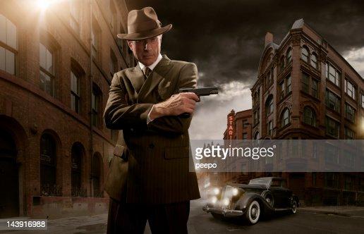 1940's noir gangster