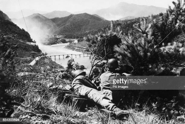 GI's on the watch as Korea war tension increases As north Korean forces mass for a push across the Nektong River the line defending American supply...