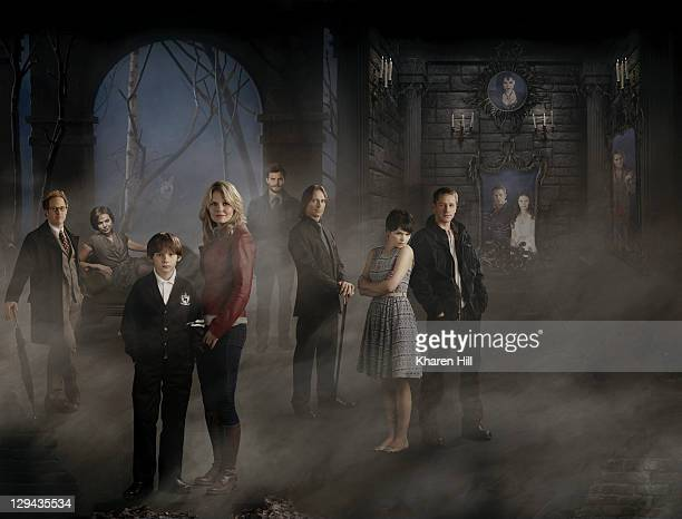 TIME ABC's 'Once Upon a Time' stars Raphael Sbarge as Jiminy Cricket/Archie Lana Parrilla as Evil Queen/Regina Jared Gilmore as Henry Jennifer...