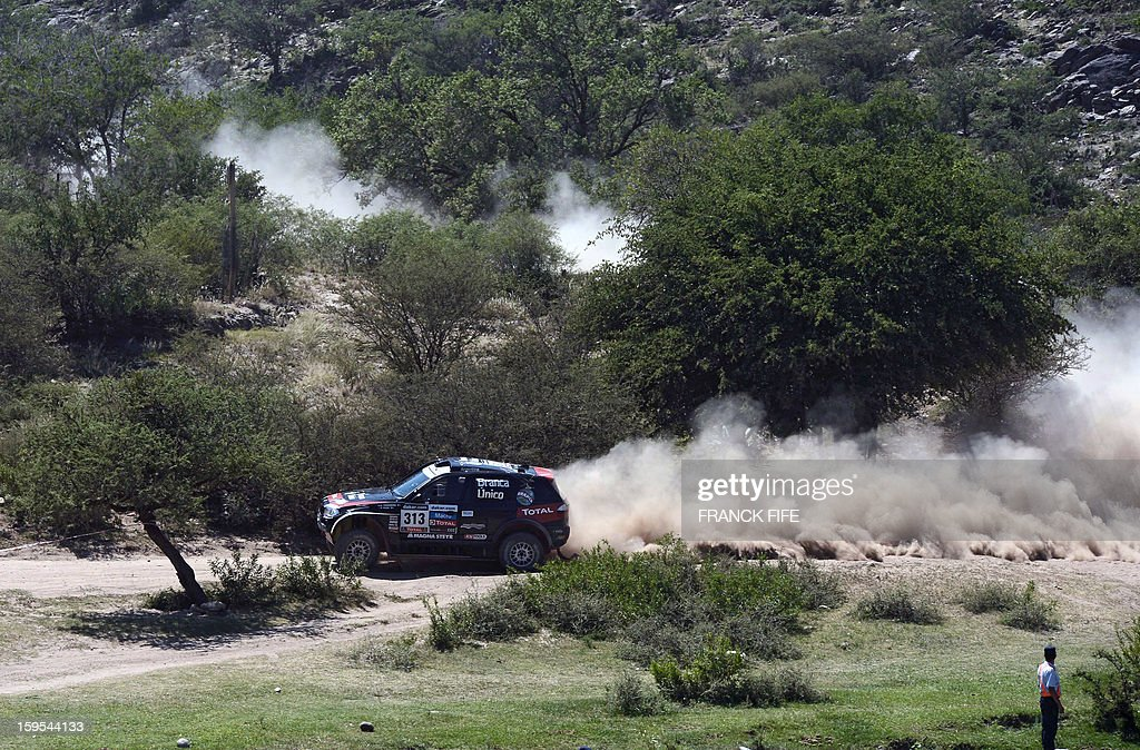 BMW's Orlando Terranova of Agrentina competes during the Stage 10 of the Dakar 2013 between Cordoba and La Rioja, Argentina, on January 15, 2013. The rally takes place in Peru, Argentina and Chile between January 5 and 20.
