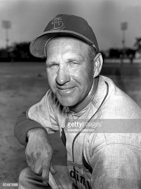 ST PETERSBURG FL CIRCA 1950's Outfielder Enos Slaughter of the St Louis Cardinals poses for a portrait during Spring Training in the early 1950's at...