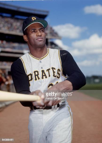 CIRCA 1960's Outfielder Roberto Clemente' #21 of Pittsburgh Pirates poses for this photo before a MLB baseball game circa mid 1960's Clemente' Played...