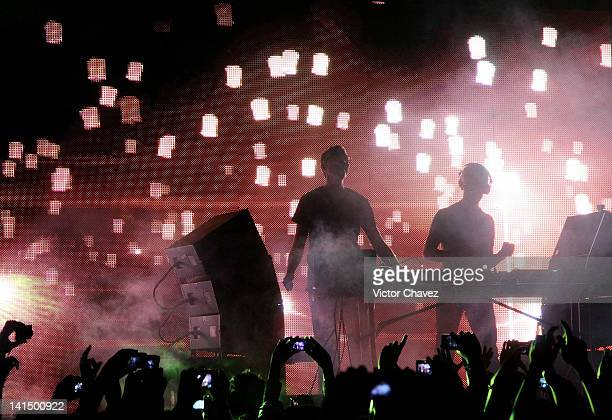 DJ's Paavo Siljamaki and Tony McGuinness of Above Beyond perform at Centro de Espectaculos Premier on March 17 2012 in Mexico City Mexico