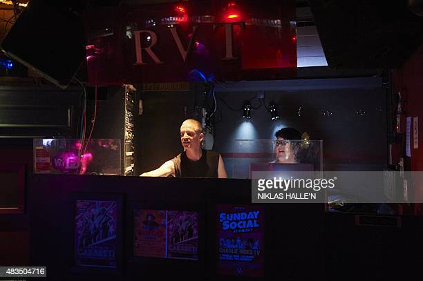 DJ's perform at the Royal Vauxhall Tavern in south London on July 18 2015 London is one of the world's most gayfriendly cities and many LGBT people...