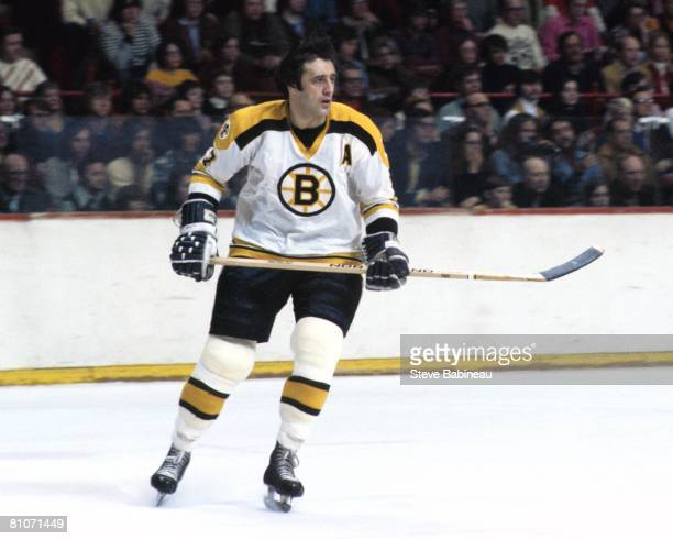 BOSTON MA 1970's Phil Esposito of the Boston Bruins skates in game at the Boston Garden