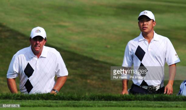 USA's Phil Mickelson and Anthony Kim during The Fourballs on Day One at Valhalla Golf Club Louisville USA