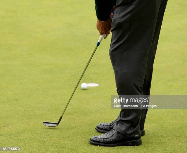 USA's Phil Mickelson attempts a putt