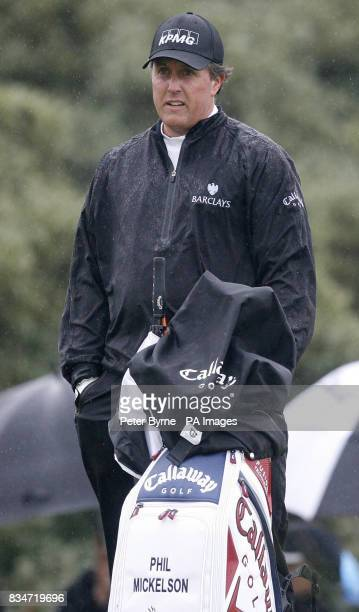 USA's Phil Mickelson during Round One of the Open Championship at the Royal Birkdale Golf Club Southport