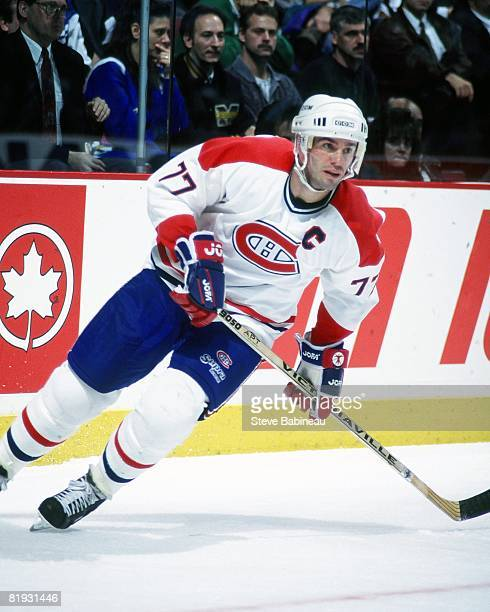 MONTREAL 1990's Pierre Turgeon of the Montreal Canadiens skates in game against the New York Rangers at the Bell Center