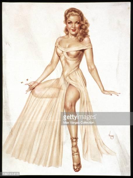 CIRCA 1940's Pinup art sketch by Alberto Vargas circa 1940's