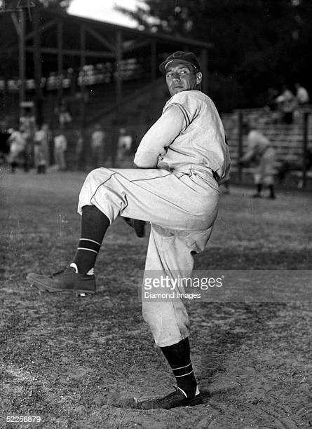 1940's Pitcher Bob Feller of the Cleveland Indians poses for a circa 1940's portrait The winningest pitcher in Cleveland Indians history Feller...